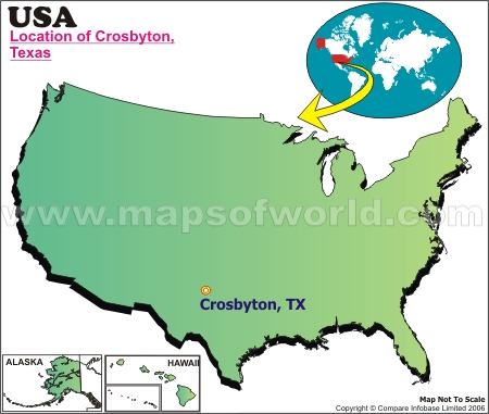 Location Map of Crosbyton, USA