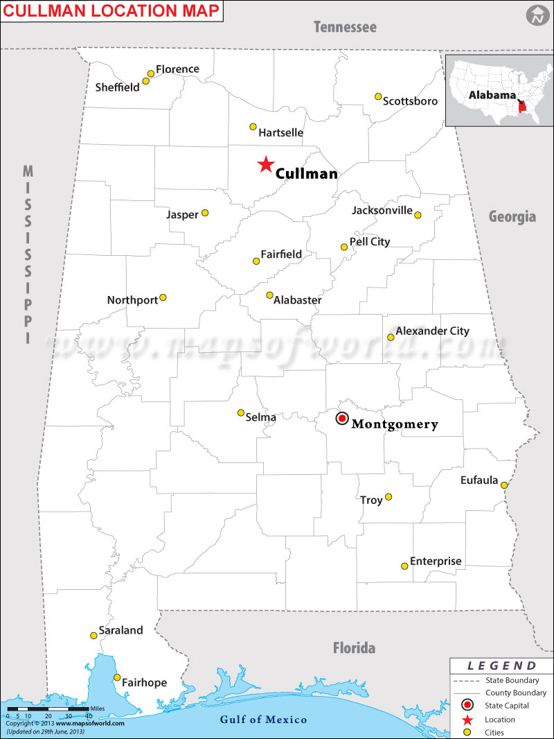 Where is Cullman located in Alabama
