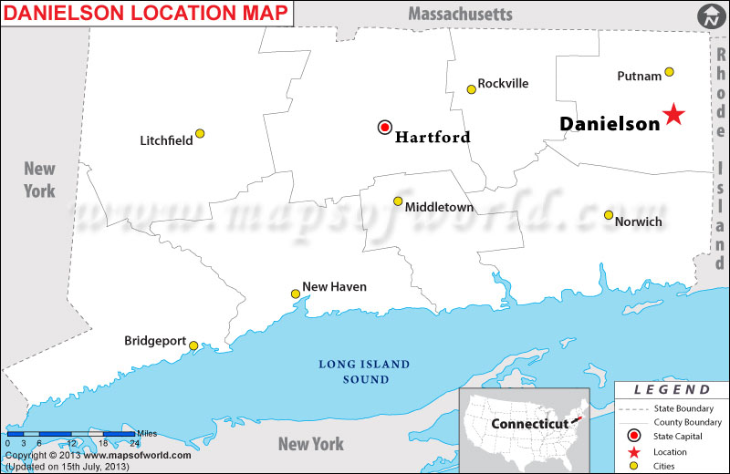 Where is Danielson located in Connecticut