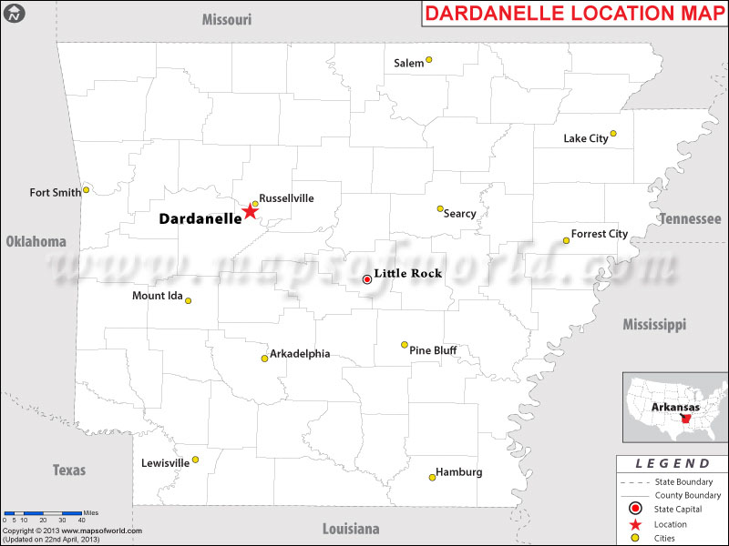 Where is Dardanelle, Arkansas