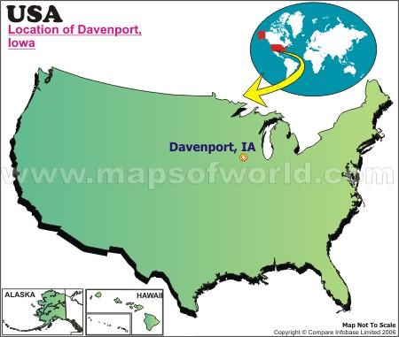 Where is Davenport, Iowa on