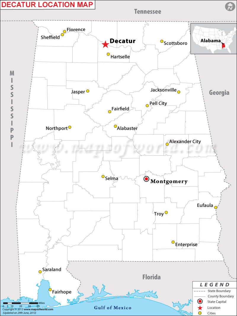 Map Of Decatur Al | www.tollebild.com