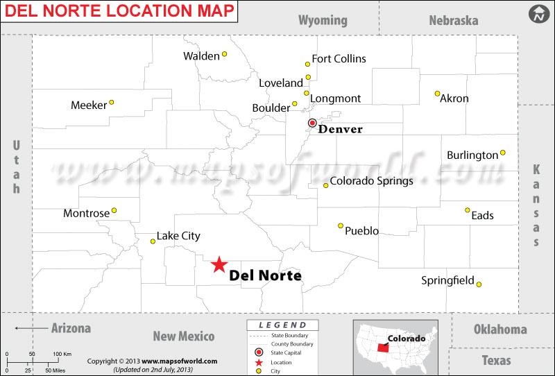 Where is Del Norte located in Colorado