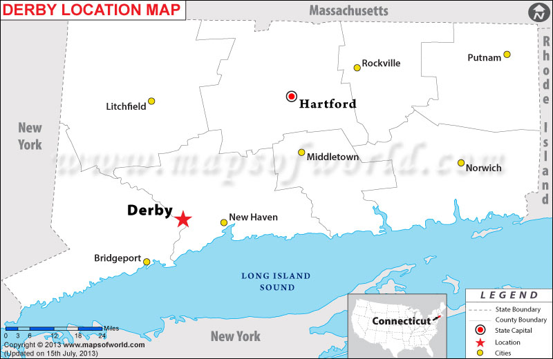 Where is Derby located in Connecticut