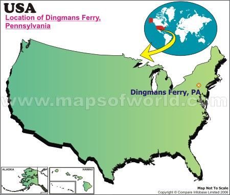 Location Map of Dingmans Ferry, USA