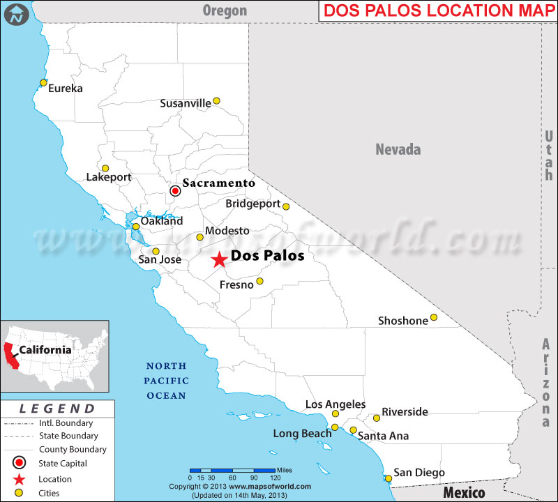 Where is Dos Palos located in California