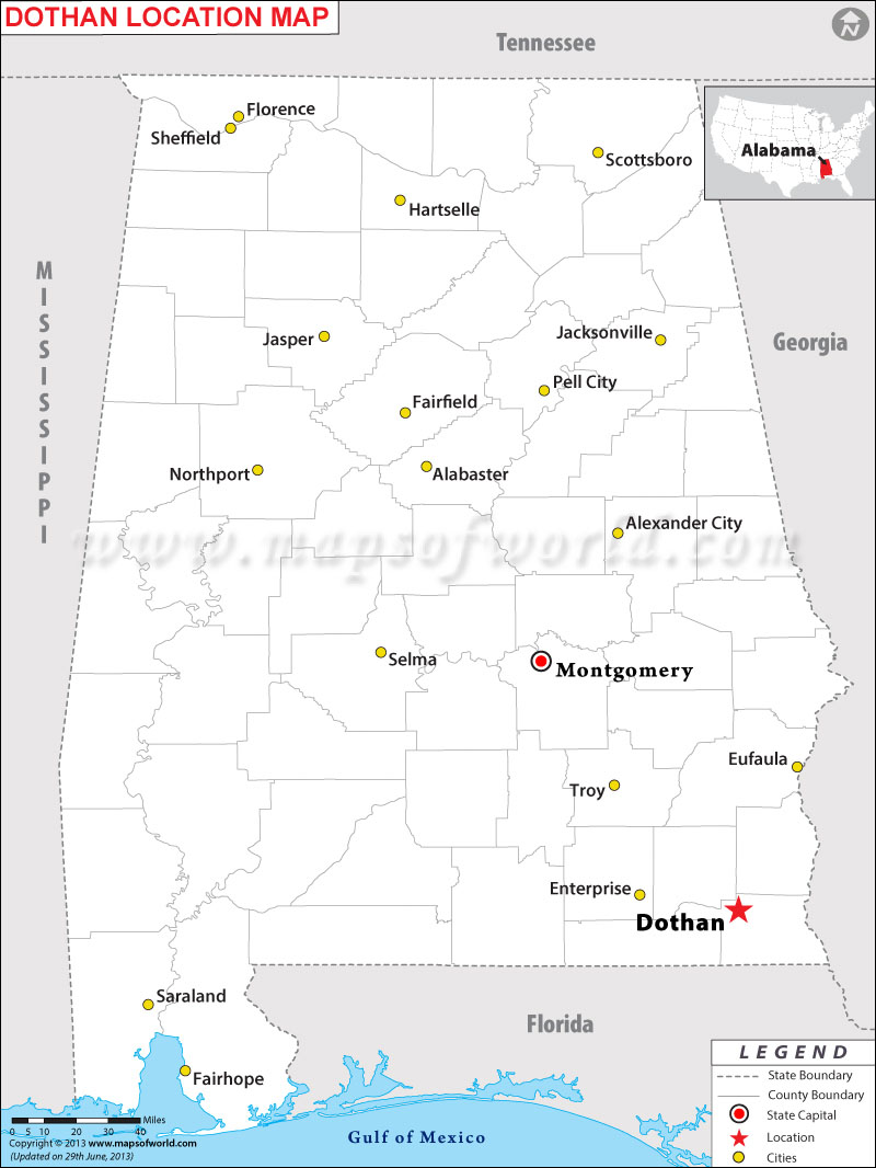 Where is Dothan located in Alabama