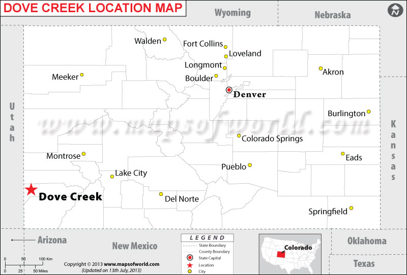 Where is Dove Creek located in Colorado