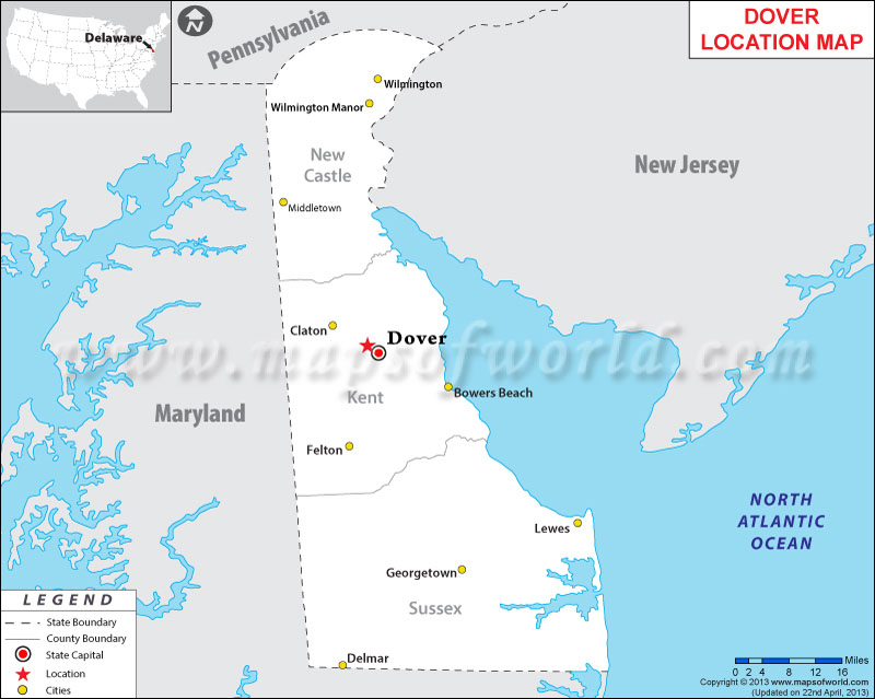 Where is Dover Located in Delaware, USA