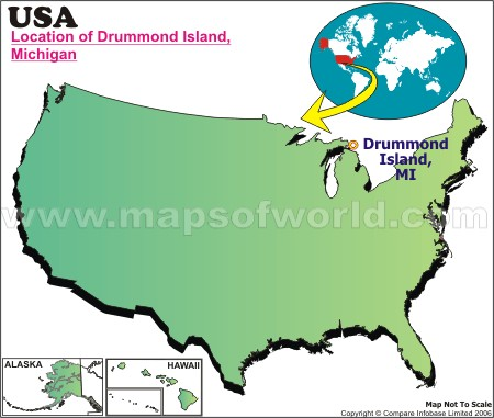 Location Map of Drummond I., USA