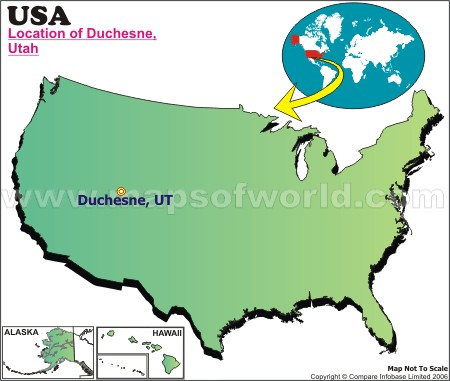 Location Map of Duchesne, USA