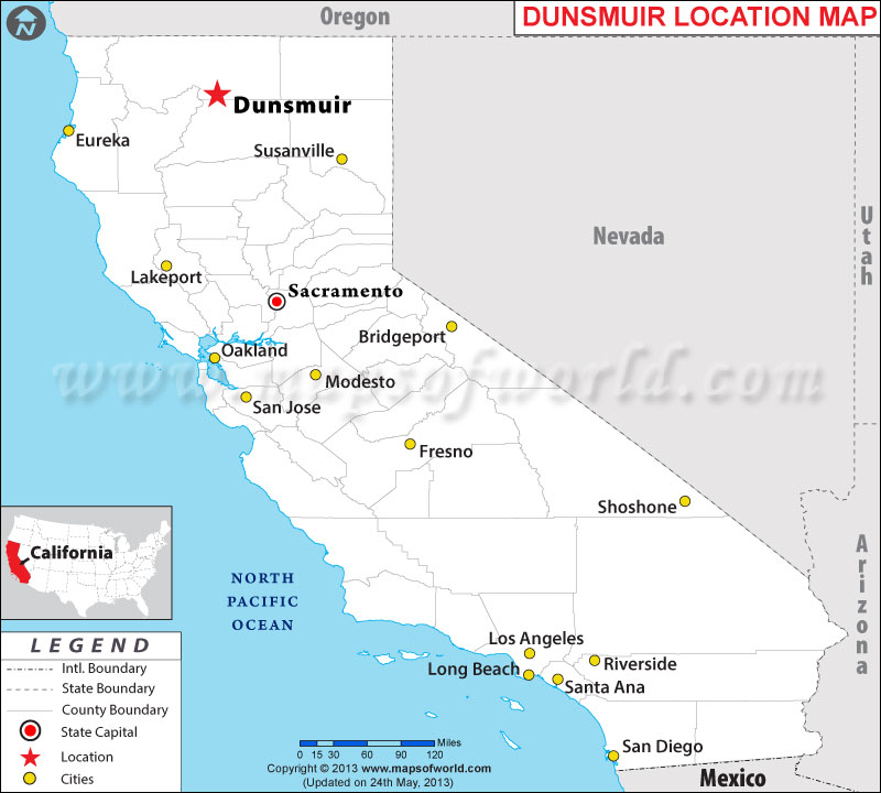 Where is Dunsmuir located in California