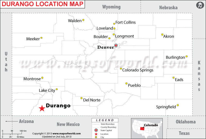 Where is Durango located in Colorado