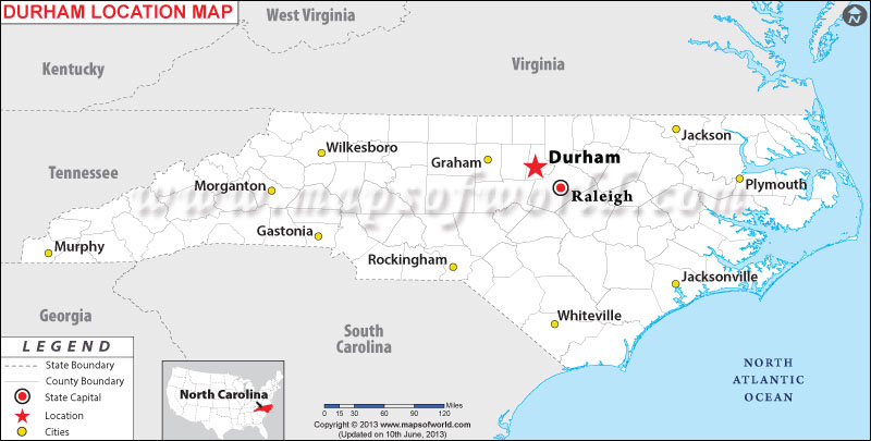Where Is Durham Located In North Carolina Usa