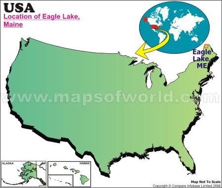 Location Map of Eagle L. Maine, USA