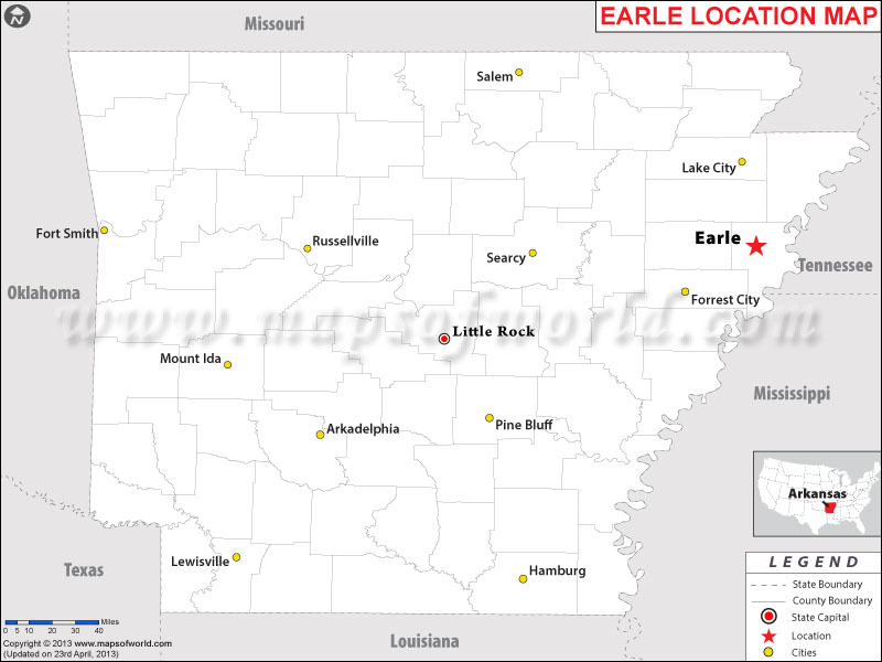 Where is Earle, Arkansas