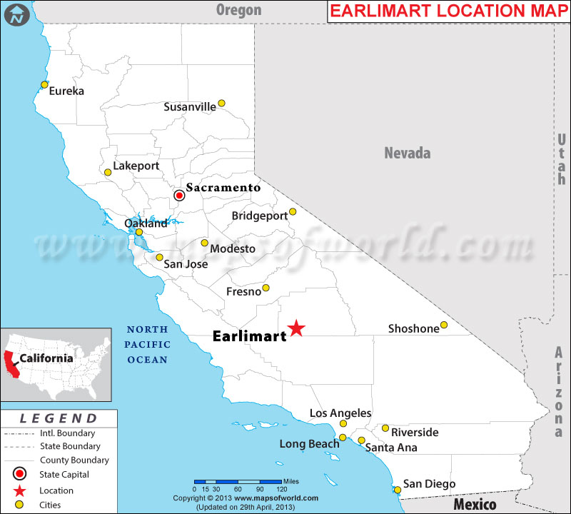 Where is Earlimart, California