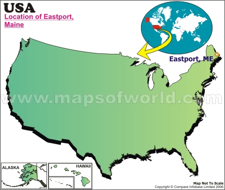 Location Map of Eastport, USA