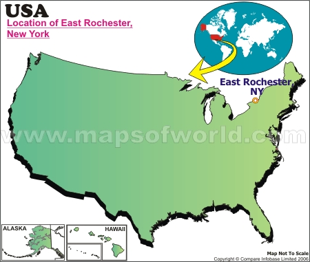 Location Map of East Rochester, USA