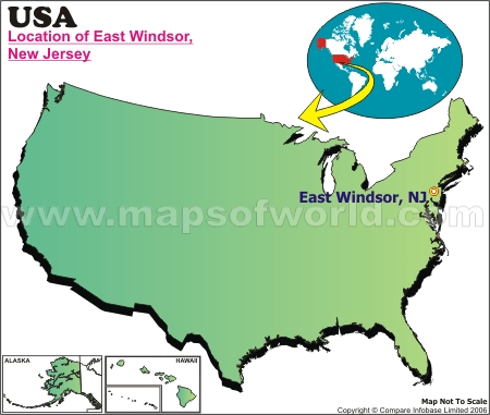 Location Map of East Windsor, USA