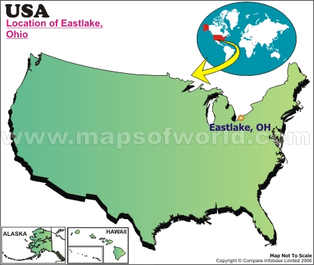 Location Map of Eastlake, USA