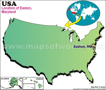 Location Map of Easton, Md., USA