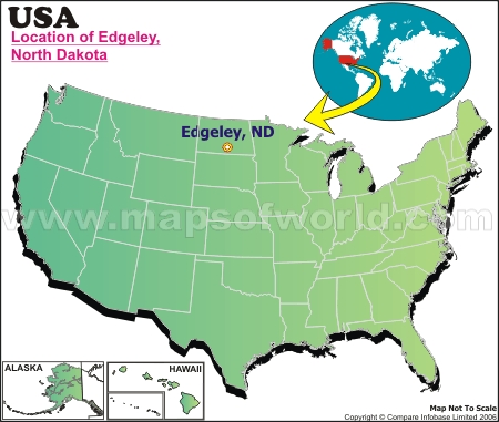 Location Map of Edgeley, USA