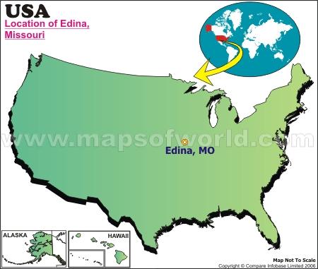 Location Map of Edina, USA