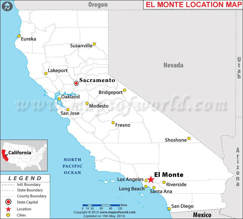 Where is El Monte located in California