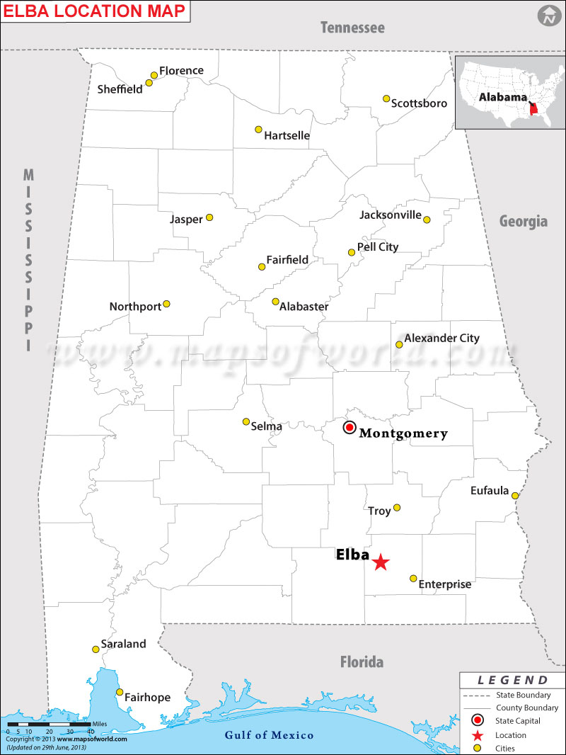 Where is Elba located in Alabama