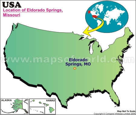 Location Map of Eldorado Springs, USA