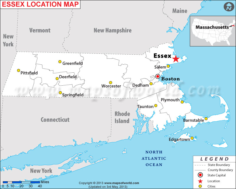 Where Is Essex Located In Massachusetts Usa