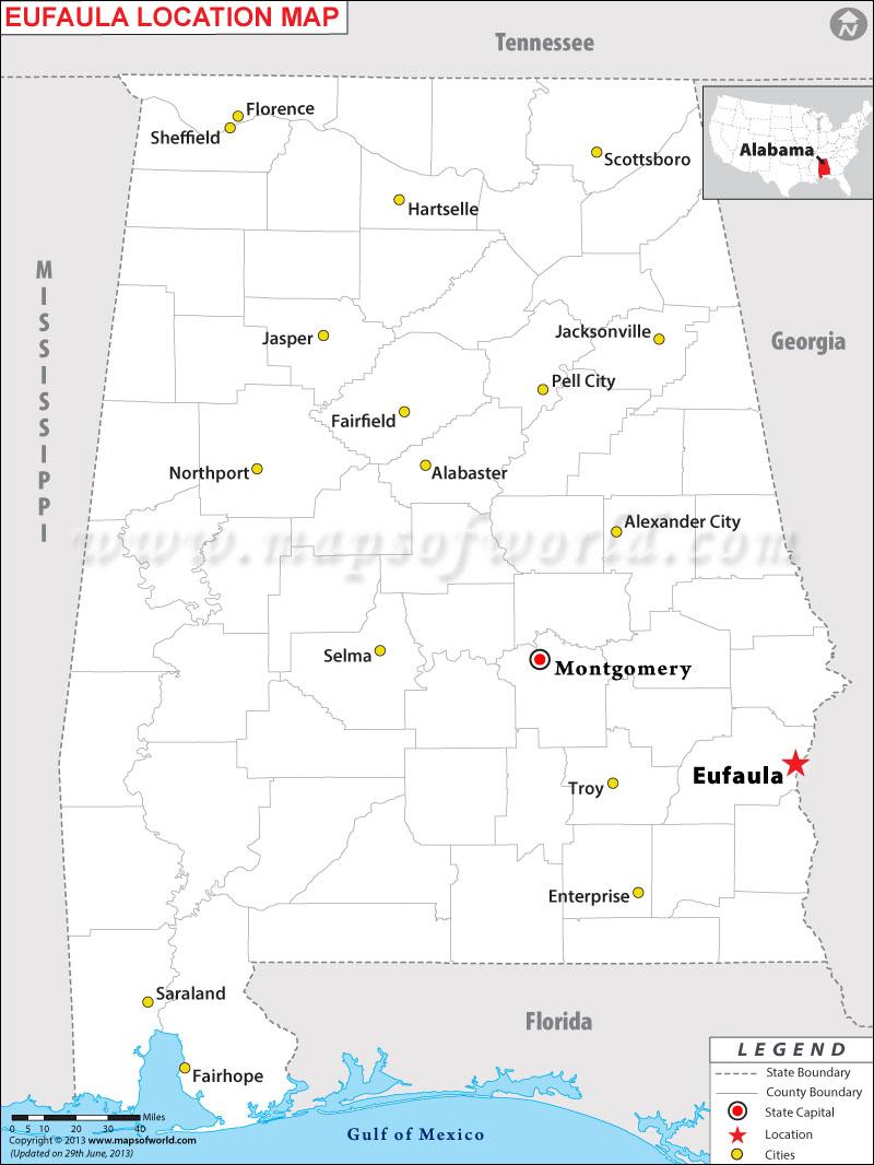 Where is Eufaula located in Alabama