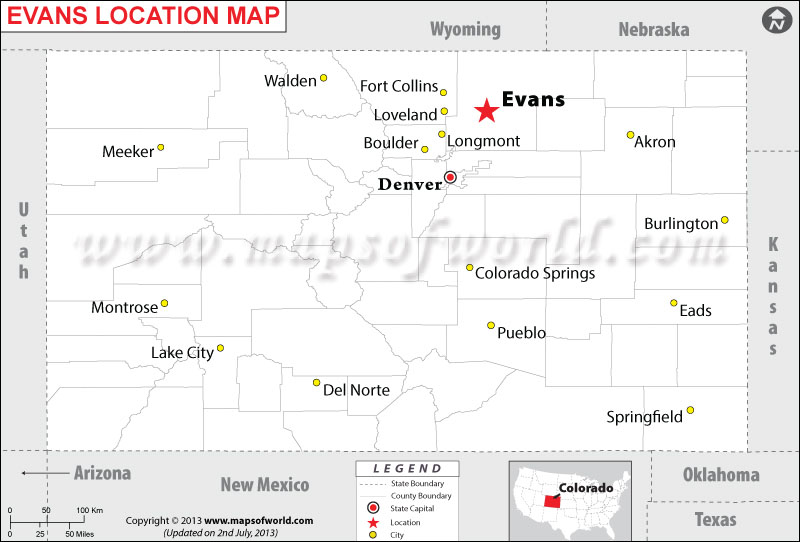 Where is Evans City located in Colorado
