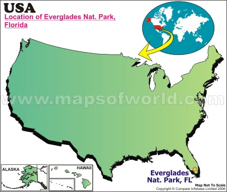 Location Map of Everglades Nat. Park, USA
