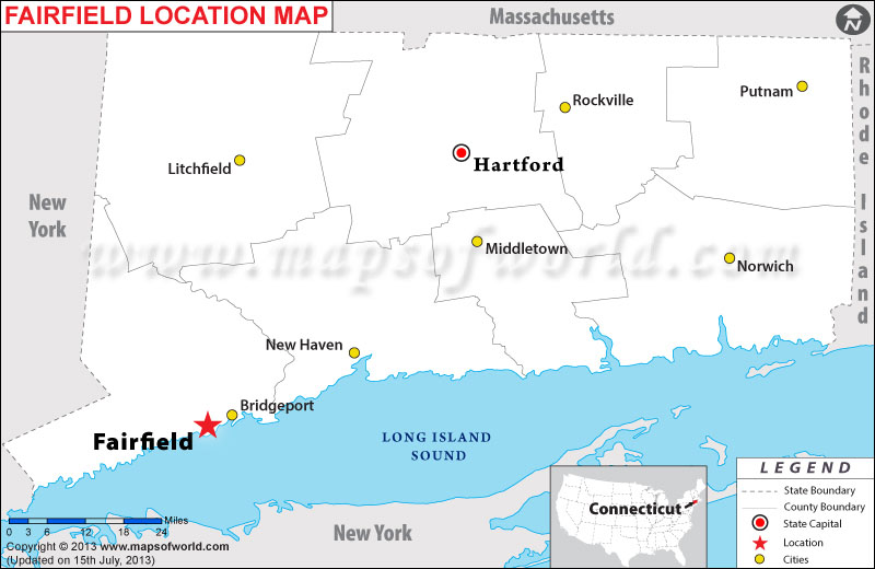 Where is Fairfield located in Connecticut