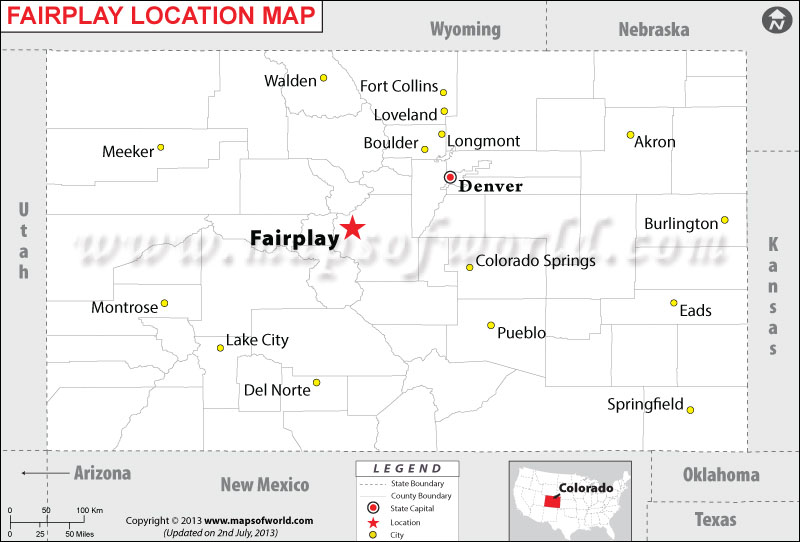 Where is Fairplay located in Colorado