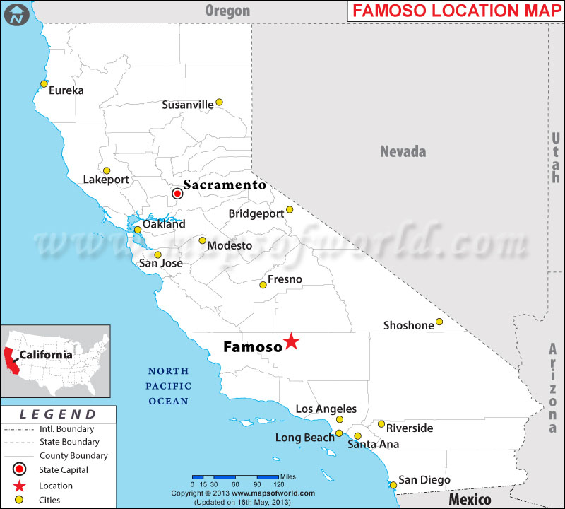 Where is Famoso located in California