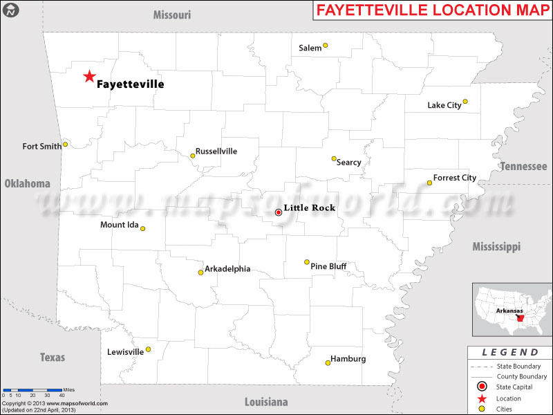Where is Fayetteville, Arkansas
