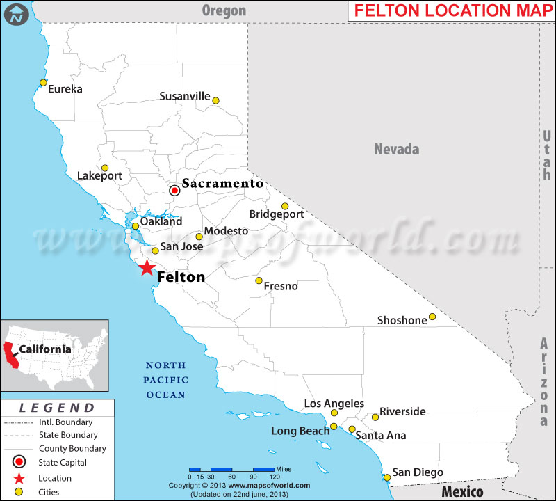Where is Felton, California