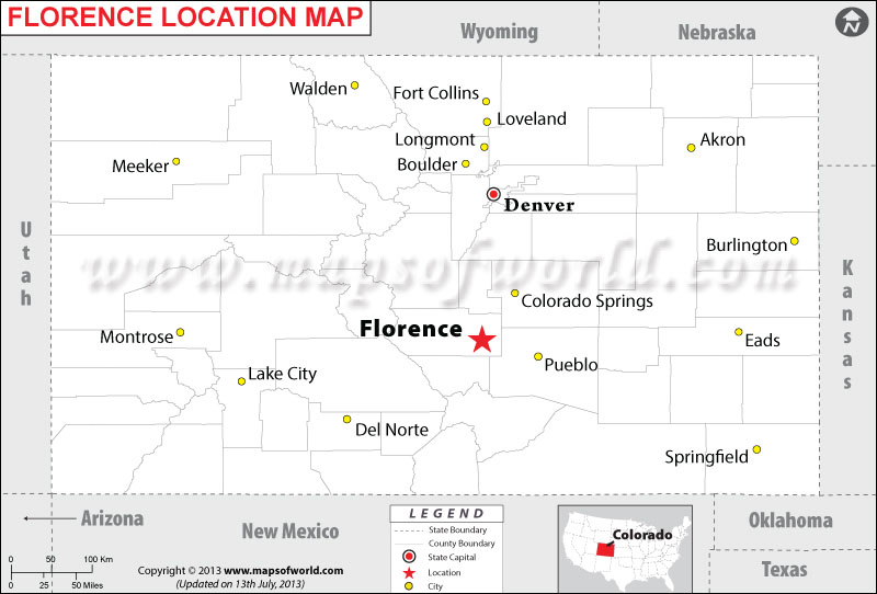 Where is Florence located in Colorado