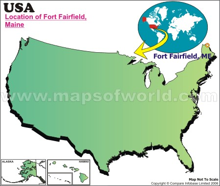 Location Map of Fort Fairfield, USA