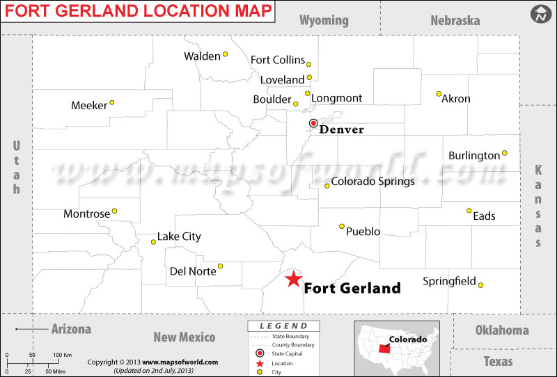 Where is Fort Gerland located in Colorado