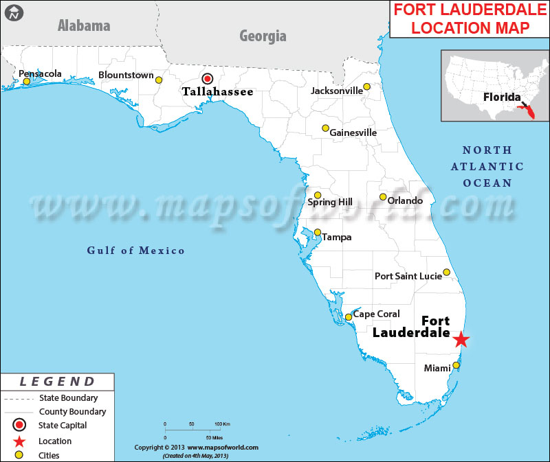 Where is Fort Lauderdale Located in Florida USA
