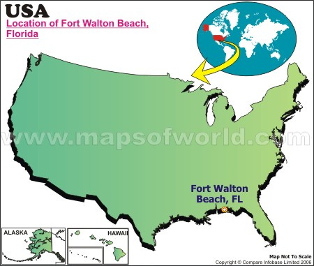 Location Map of Fort Walton Beach, USA