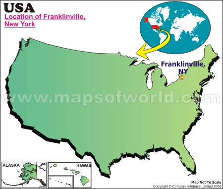 Location Map of Franklinville, USA