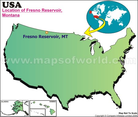 Location Map of Fresno Reservoir, USA