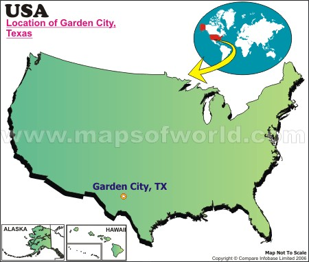 Location Map of Garden City, Tex., USA
