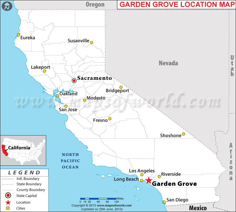 Where is Garden Grove Located in California USA