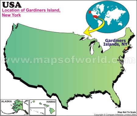 Location Map of Gardiners I., USA
